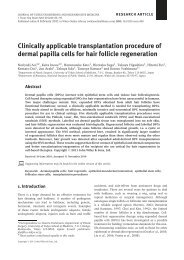 Clinically applicable transplantation procedure of dermal papilla ...