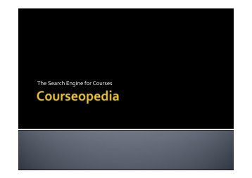 The Search Engine for Courses