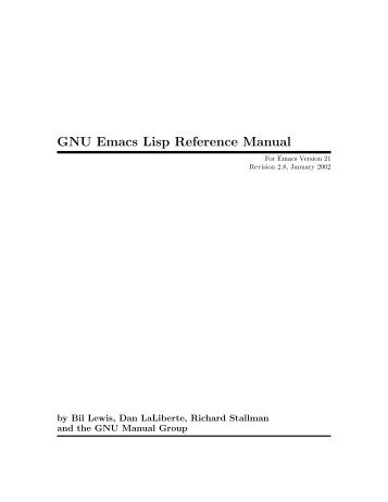 GNU Emacs Lisp Reference Manual - Local Sector 7 web page