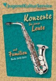 Download der Konzertbroschüre als PDF. - Jugendkulturservice Berlin