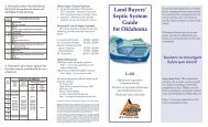 Land Buyers' Septic System Guide for Oklahoma - OSU Fact Sheets