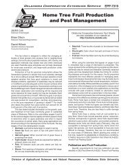 Home Tree Fruit Production and Pest Management - OSU Fact Sheets