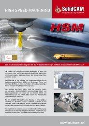 HIGH SPEED MACHINING - SolidCAM