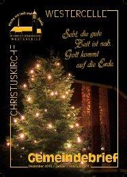 Ausgabe 2010/11: Dez / Jan / Febr - Kirchengemeinde Westercelle