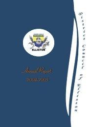 Annual Report 2004/2005 - District Council of Elliston - SA.gov.au