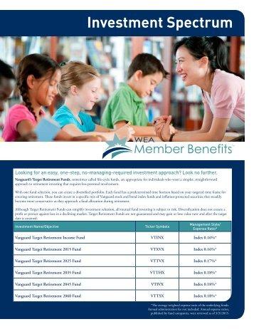 Investment Spectrum - WEA Trust Member Benefits