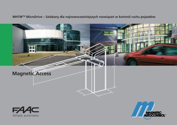 Ulotka FAAC MAGNETIC ACCESS