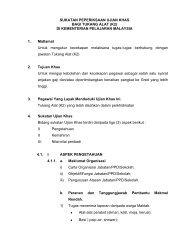 sukatan peperiksaan ujian khas - Kementerian Pelajaran Malaysia