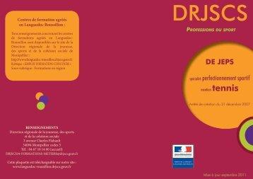 DEJEPS Spécialité Perfectionnement Sportif Mention ... - DRJSCS