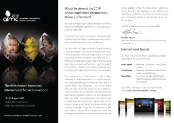 The 65th Annual Australian International Movie Convention ...
