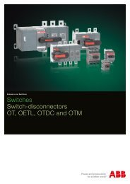 Switches Switch-disconnectors OT, OETL, OTDC and OTM