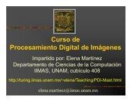 Curso de Procesamiento Digital de Imágenes g g - Departamento ...