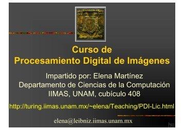 Curso de Procesamiento Digital de Imágenes - Departamento de ...