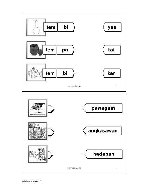 suku kata 15 sukukata - Saujana