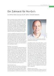 Weiterlesen ... (Download als PDF 149 KB) - Zahnarzt auf Rädern