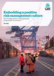 Embedding a Positive Risk Culture Report