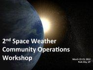 Summary of 2nd Workshop in 2012 - Utah State University