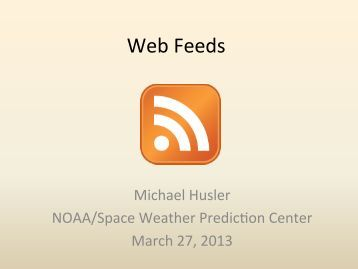 Web Feeds - Space Weather Center at USU