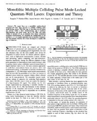 Monolithic Multiple Colliding Pulse Mode-Locked Quantum-Well ...