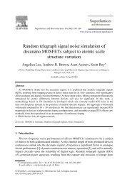 Random telegraph signal noise simulation of decanano MOSFETs ...