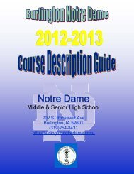 Student Course Guide Book - 2012-2013 - Burlington Notre Dame ...