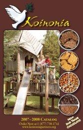 2007– 2008 Catalog - Koinonia Farm