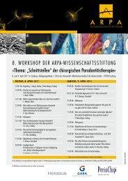 8. Workshop DEr ArpA-WissEnschAftsstiftung