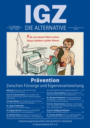 Ausgabe 1-2013 - IGZ