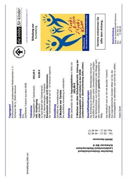 Deutscher Kinderschutzbund Landesverband Niedersachsen