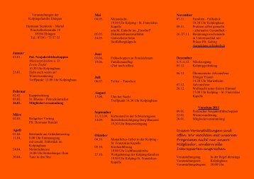 Jahresprogramm 2010