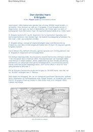 Den danske hærs 8 Brigade. Kilde: Magne Lund og Forsvarets arkiver