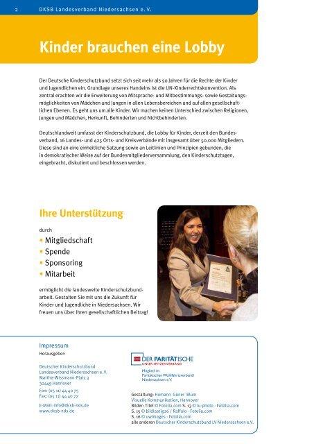 Jahresbericht 2011 - Deutscher Kinderschutzbund Landesverband ...