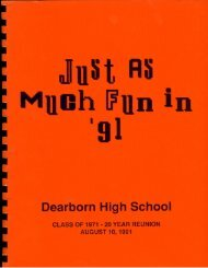 Introducing - DHS Class of 1971 40th Reunion Memories