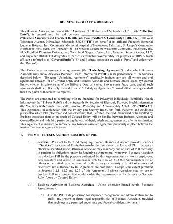 Aspirus Inc Hipaa Business Associate Agreement Memorial Health