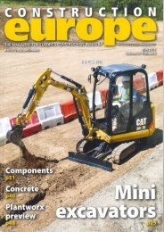 Download the article from Construction Europe in pdf format. - MTG