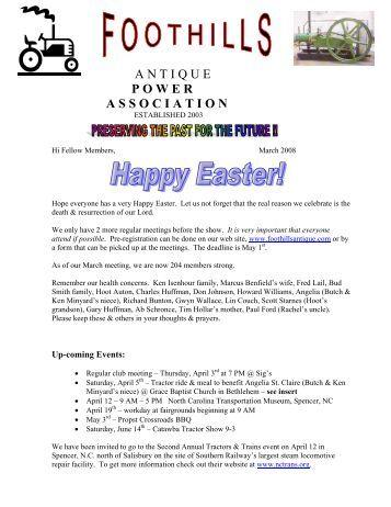 newsletter.march08 - Foothills Antique Power Association