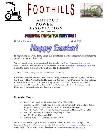newsletter.march08 - Foothills Antique Power Association
