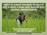 Effect of climate variables on yield of Rice in Nepal - 7th ASAE ...