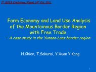 Farm Economy and Land Use Analysis of the Mountainous Border ...