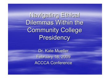 Navigating Ethical Dilemmas Within the Community College ...