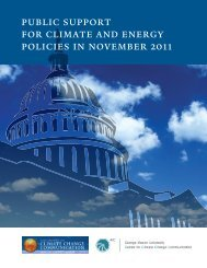 public support for climate and energy policies in november 2011
