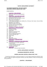 Building Control Regulations 1993 - Capital Development Authority