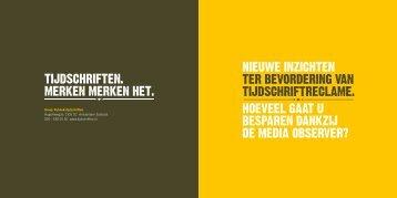 Brochure Media Observer onderzoek - Magazines.nl