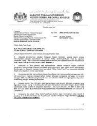 3)Surat Permohonan Pelan Dewan / Bilik Peperiksaan