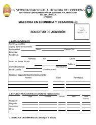 maestria en economia y desarrollo solicitud de admisión