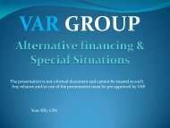 Additional Financing Alternatives and Special Situations - IVC-Online