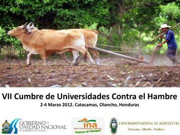 Sr. Cesar Ham - Ministro de INA - Honduras - Universidad Nacional ...