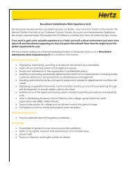 Recruitment Administrator/Work Experience (m/f) Our European ...