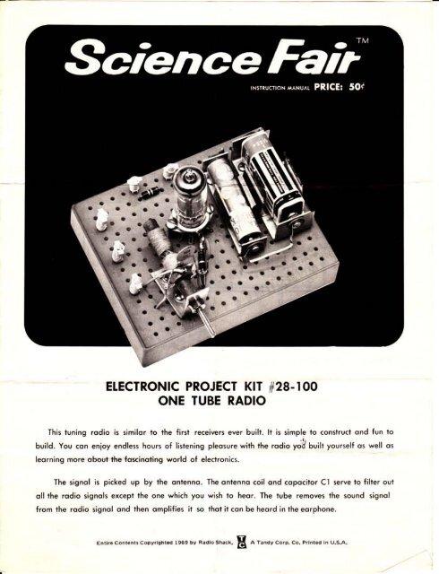 One-tube radio kit - Technology