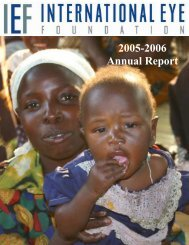 2005-2006 Annual Report - The International Eye Foundation